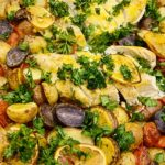 Lemon Spiced Chicken, Tomatoes and Potatoes